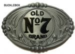 GENUINE JACK DANIEL'S (Oval Old No. 7) BELT BUCKLE + display stand - Offically Licensed